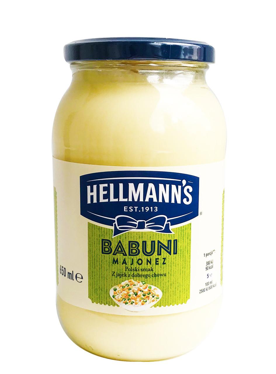 Майонез hellmann's Babuni, 650мл, Польща, 65% жирність, Оригінал