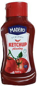 Кетчуп томатний пікантний Madero Pikantny, 560г, Польща, гострий