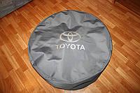 Чехол для запасного колеса Toyota. Цвет серый 75х24, фото 1