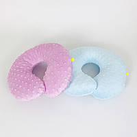 Подушки дорожные для путешествий B-Soon Минки 2 шт цвет сиреневая и голубая (ДП-08), фото 1