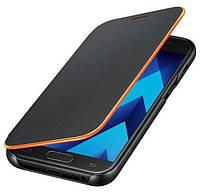 Оригинальный защитный Чехол книжка Samsung Neon Flip Cover Black для Galaxy A5 2017 A520 (EF-FA520PBEGRU)