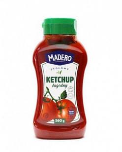 Кетчуп томатний ніжний Madero Lagodny, 560г, Польща,
