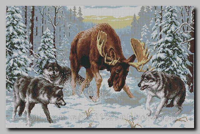 Встреча в лесу вышивка бисером