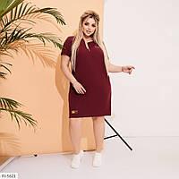 Молодіжне пряме сукня жіноча літнє до коліна в спортивному стилі великих розмірів 50-60 арт. 540