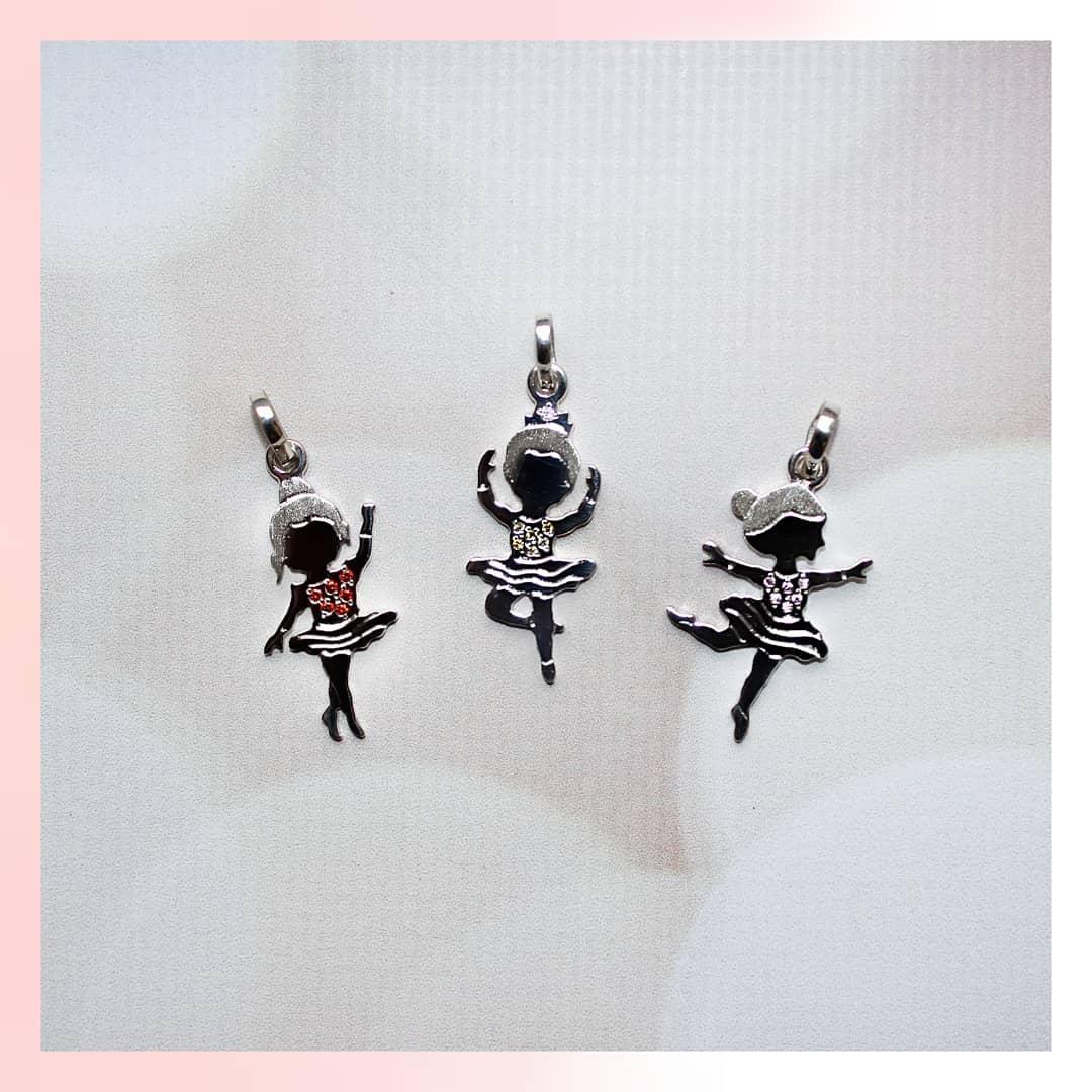 """Серебряный кулон подвеска """"Маленькая танцовщица 1"""". 2,5см. 925 проба. Балерина. Танцы"""