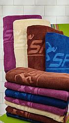 """Полотенце банное однотонное  70х140 из  микрофибры """"Спорт"""" разные цвета"""
