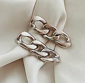 Серьги цепи серебро бижутерия