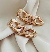 Сережки ланцюга золото біжутерія