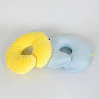 Подушки дорожні для подорожей B-Soon Мінкі 2шт колір жовта і блакитна (ДП-09), фото 1