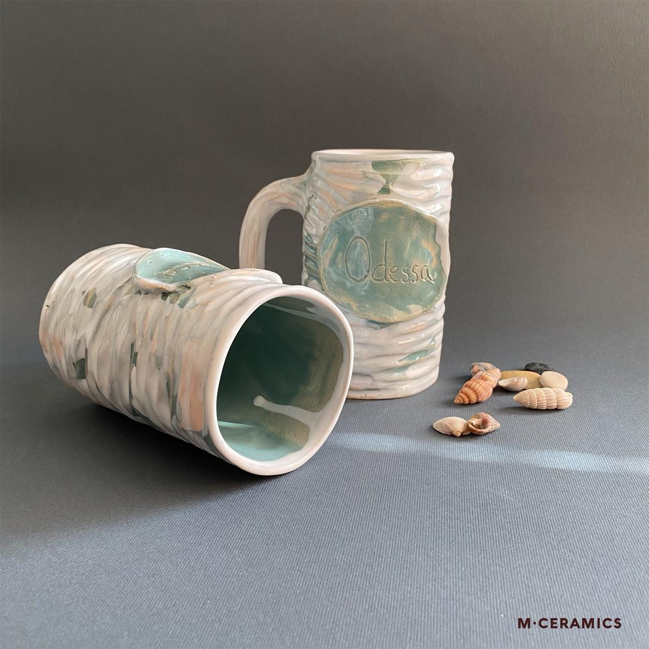 Керамічна чашка «Одеса» ручної роботи