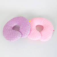 Подушки дорожные для путешествий B-Soon Минки 2 шт цвет сиреневая и розовая (ДП-10)