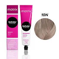 Матрікс Соколор Пре-Бондед, стійка крем-фарба для волосся, відтінок 10N, 90 мл