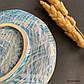 Плоская керамическая тарелка Голубая ручной работы, фото 6