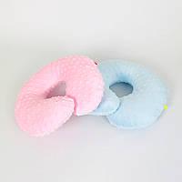Подушки дорожні для подорожей B-Soon Мінкі 2шт колір рожева і блакитна (ДП-11), фото 1