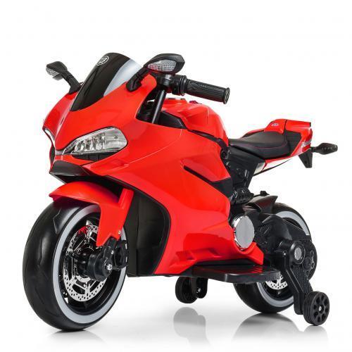 Дитячий мотоцикл Bambi Racer M 4104EL-3, 2 мотора 25W, світло, MP3, USB