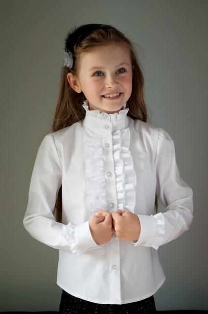 Блузка  школьная красивая для девочки