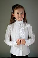 """Блузка  школьная """"Свит блуз"""" красивая для девочки мод. 2037 в белом цвете"""