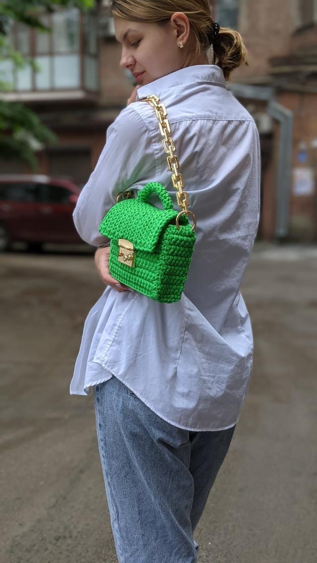 Мастер класс Мини сумочка из трикотажной пряжи Бобилон