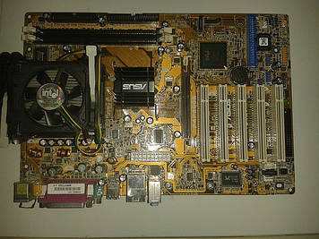 Материнская плата Asus P4P800S + процессор Intel P.4, 2.40 GHz,  + кулер, s478