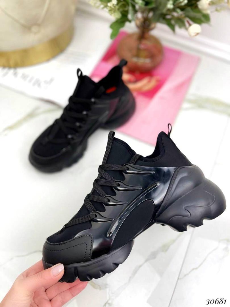 Кросівки текстильні Колір:чорний