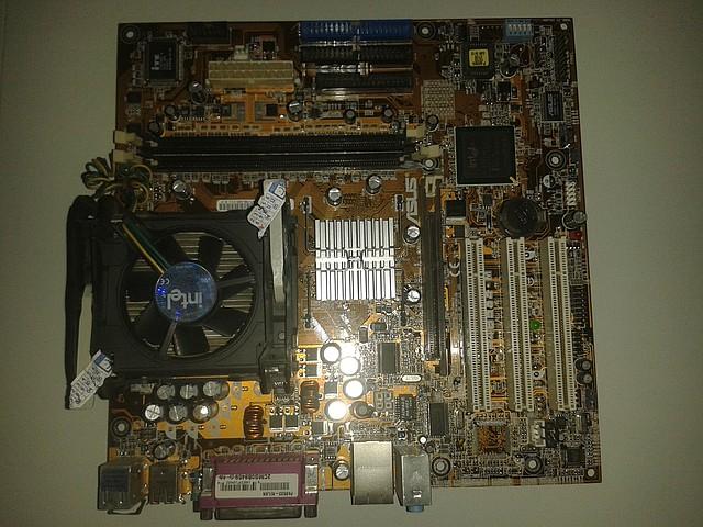 Материнская плата  Asus P4B533-M + процессор Intel P.4, 2.00 GHz,  + кулер, s478