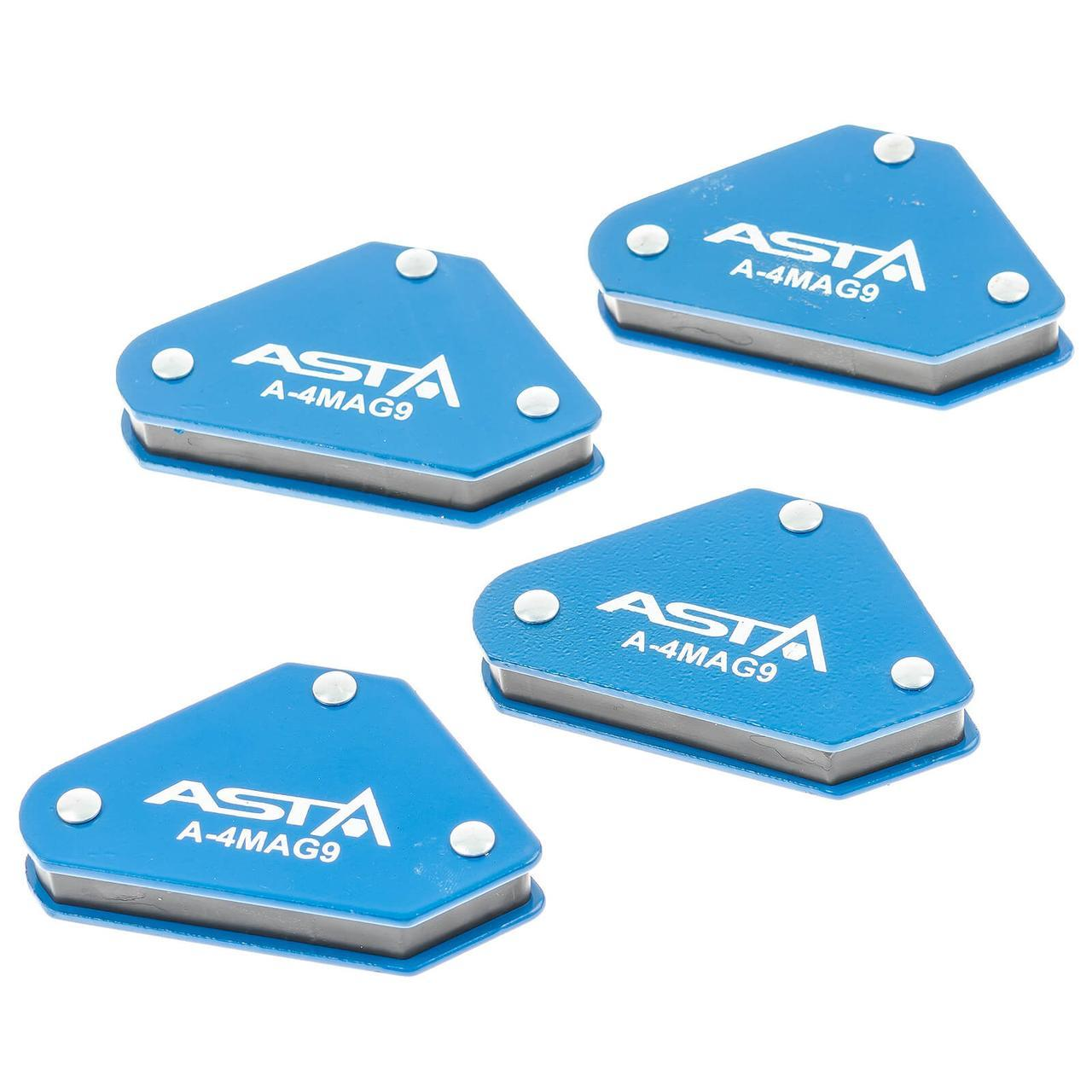 Магнитные струбцины для сварки набор 4 шт., 9 кг ASTA A-4MAG9