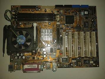 Материнская плата  Asus P4B533 + процессор Intel P.4, 2.00 GHz,  + кулер, s478