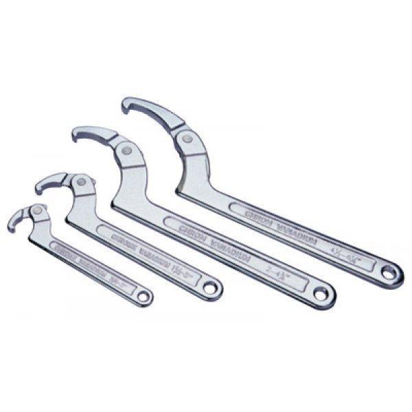 Серповидні ключі для круглих гайок шліцьових
