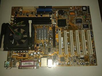 Материнская плата Asus P4PE-X + процессор Intel P.4, 2.00 GHz,  + кулер, s478
