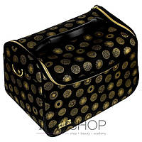 Сумка (валіза) для майстра - чорний з золотим візерунком (8119)