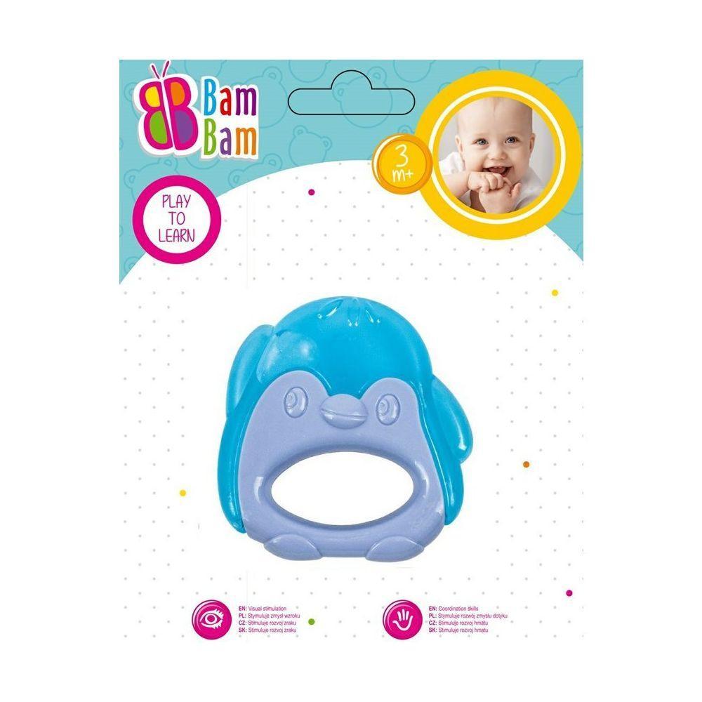 """BAM BAM Прорізувач для зубів """"Пінгвін блакитний"""""""