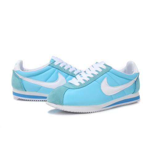 Женские кроссовки Nike Cortez голубые