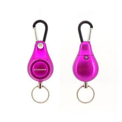 Персональна кишенькова сигналізація сирена для самооборони Doberman Security SE-0120, фіолетова