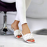 Актуальні білі фактурні жіночі шльопанці шльопанці в асортименті, фото 6