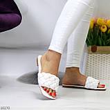 Актуальні білі фактурні жіночі шльопанці шльопанці в асортименті, фото 8