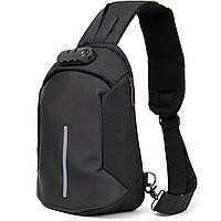 Ергономічний рюкзак через плече з кодовим замком текстильний Vintage 20553 Чорний