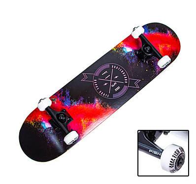"""СкейтБорд деревянный от Fish Skateboard """"Happy Skate"""""""