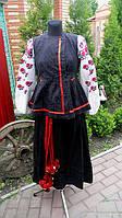 Чёрый костюм из корсеки и юпки