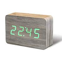 """Смарт-будильник с термометром """"BRICK"""", ясень, фото 1"""
