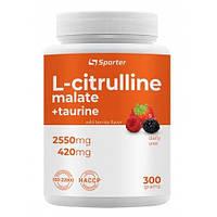 Амінокислота Sporter L-Citrulline Malate, 300 грам Ягоди