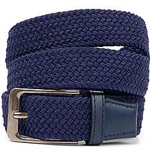 Текстильный мужской ремень классика Vintage 20524 Синий