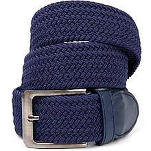 Текстильный ремень мужской классика Vintage 20520 Синий