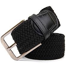 Текстильный ремень мужской классика Vintage 20521 Черный