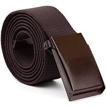 Текстильный ремень с коричневой пряжкой Vintage 20531 Коричневый
