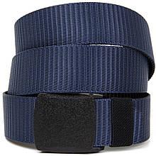Текстильный ремень с матовой пряжкой Vintage 20536 Синий