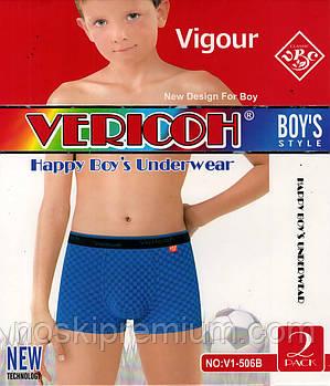 Детские подростковые боксеры хлопок с бамбуком Vericoh, размеры 6-14 лет, 506