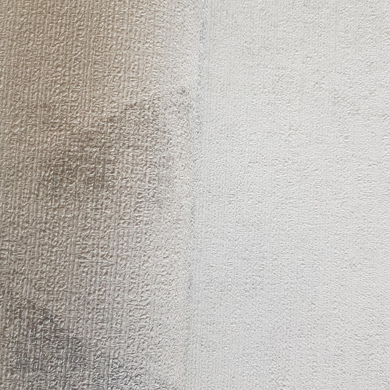 Шпалери вінілові на флізелін Rasch Victoria метрові під штукатурку ефект потертості білі з сірим