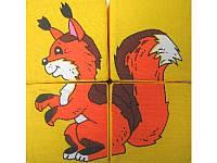 Набор мягких кубиков Умная игрушка Дикие зверушки (BOC052446)