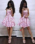 Літнє плаття сорочка з розкльошеною спідницею без рукавів в квітковий принт з бавовни (р. 42, 44) 9032696, фото 7