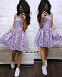 Літнє плаття сорочка з розкльошеною спідницею без рукавів в квітковий принт з бавовни (р. 42, 44) 9032696, фото 6